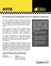 Lettre circulaire Taxi_Avis